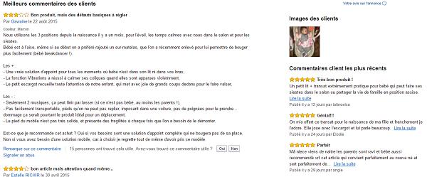 Transat bébé Rocker Napper 3 en 1 test et avis utilisateurs Amazon